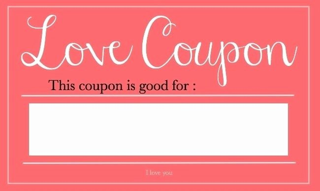 Valentine Day Coupon Template Elegant Valentine Coupon Template