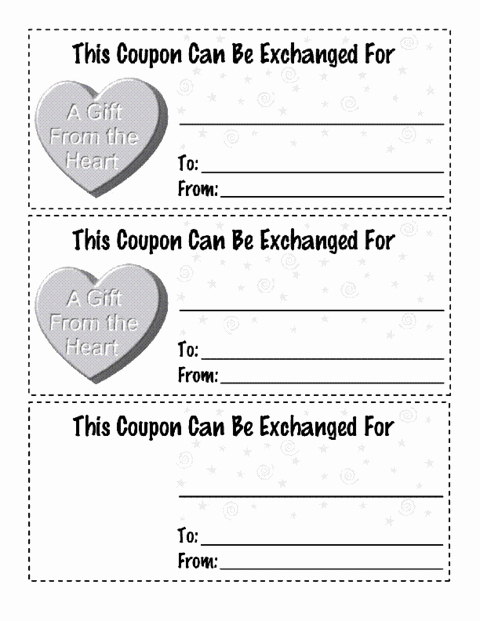 Valentine Day Coupon Template Elegant Valentines Coupon Version 1 Template