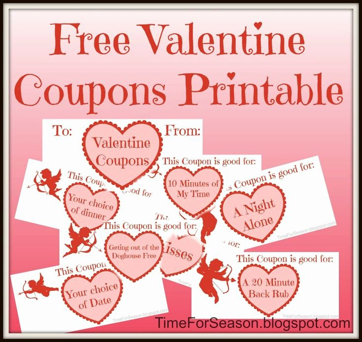 Valentine Day Coupon Template Fresh 89 Best Images About Valentine S Day On Pinterest