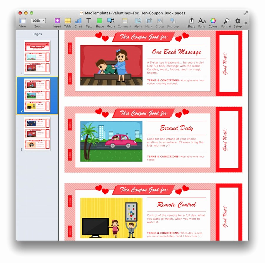 Valentine Day Coupon Template Fresh Valentine S Day Coupon Book for Pages & Pdf Mactemplates