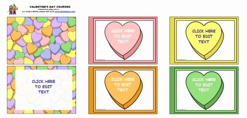 Valentine Day Coupon Template Inspirational Valentine's Day Coupon Book