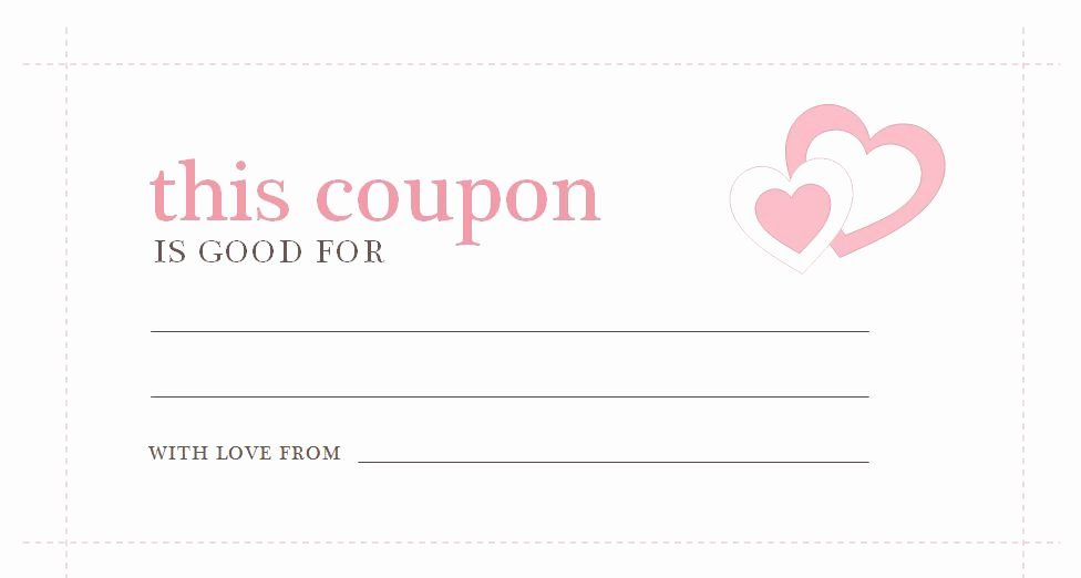 Valentine Day Coupon Template Inspirational Valentines Day Coupons