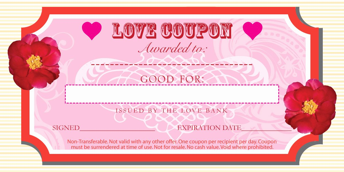 Valentine Day Coupon Template Lovely top Homemade Christmas Coupon Templates for