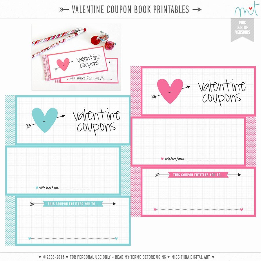 Valentine Day Coupon Template Luxury Free Valentine S Printables