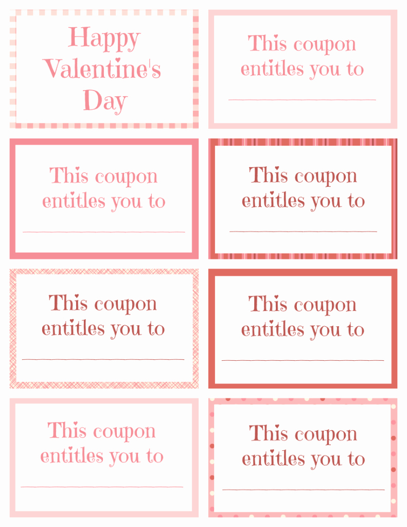 Valentine Day Coupon Template Luxury Printable Valentine Coupon Book Blank