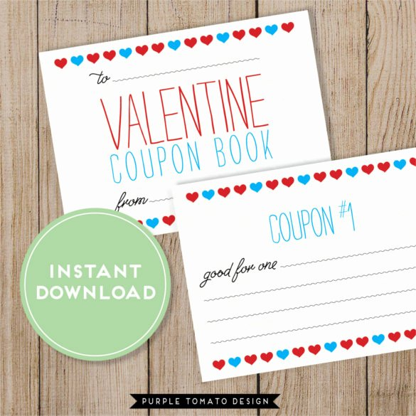 Valentine Day Coupon Template Unique 27 Blank Coupon Templates Psd Word Eps Ai Indesign