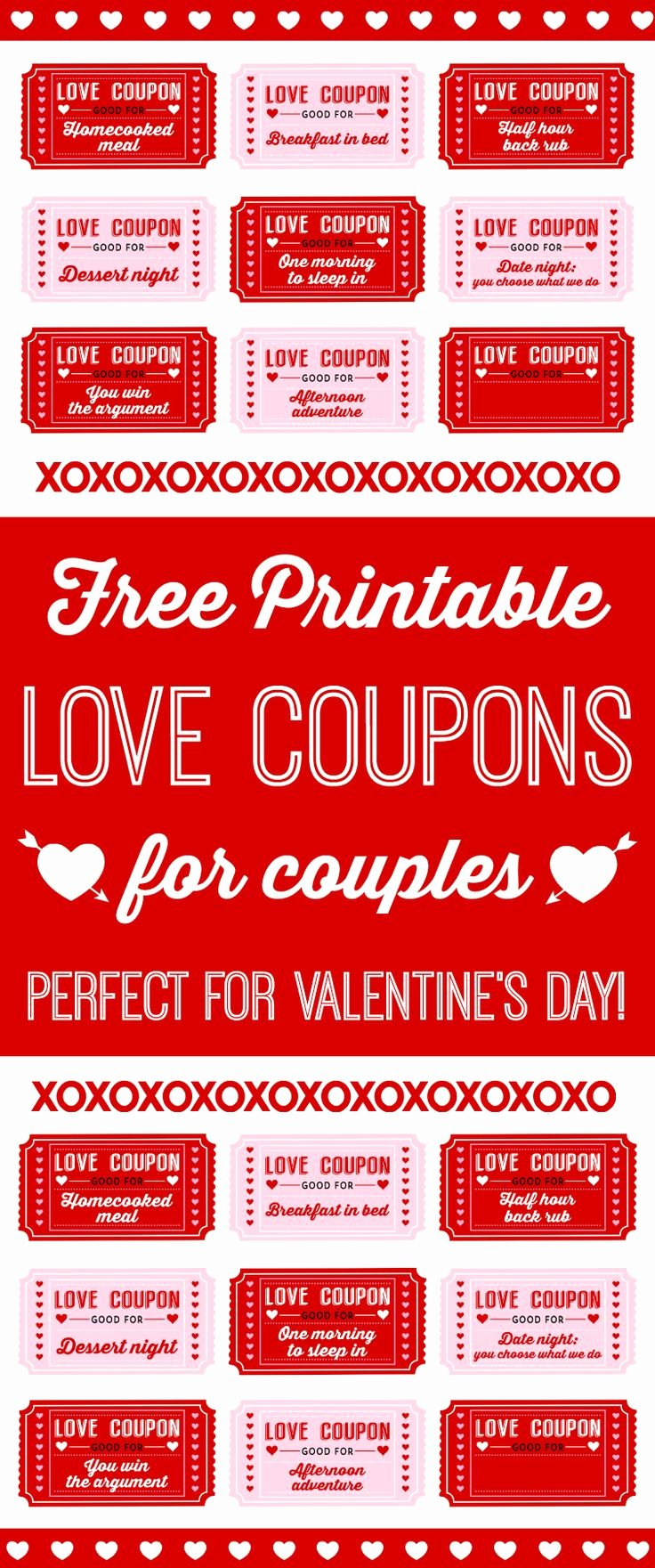 Valentine Day Coupon Template Unique Free Printable Love Coupons for Couples 753×1 802