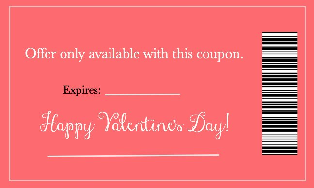 Valentine Day Coupon Template Unique Valentine S Day Love Coupons