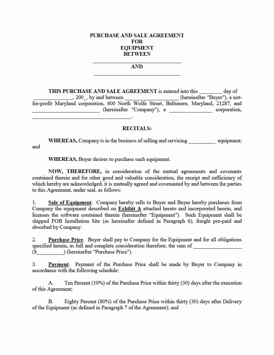 Vehicle Purchase Agreement Template Unique Aircraft Purchase Sales Agreement Clean 42 Printable