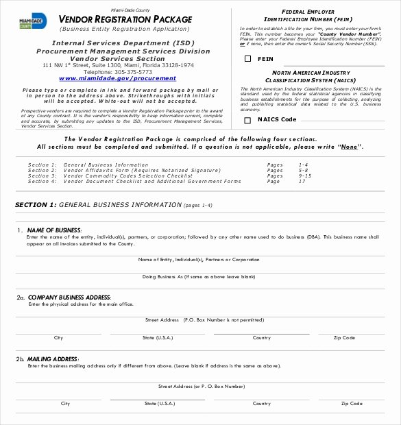 Vendor Registration form Template Awesome Vendor Application Template – 9 Free Word Pdf Documents