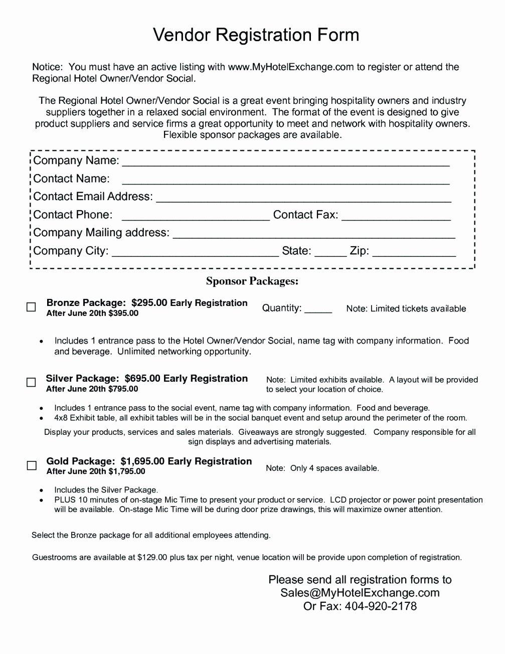 Vendor Registration form Template Luxury 12 13 Vendor Sign In Sheet Template