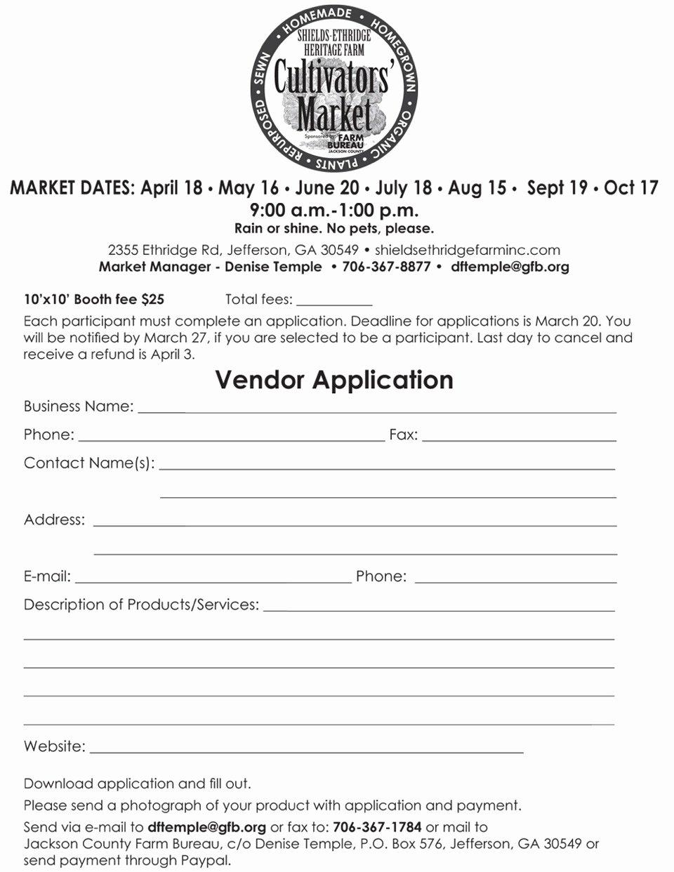 Vendor Registration form Template Unique Download Vendor Registration Application form