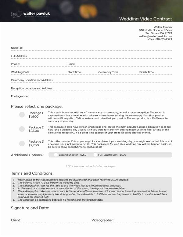 Video Production Contract Template Elegant 6 Videography Contract Templates Word Pages Docs