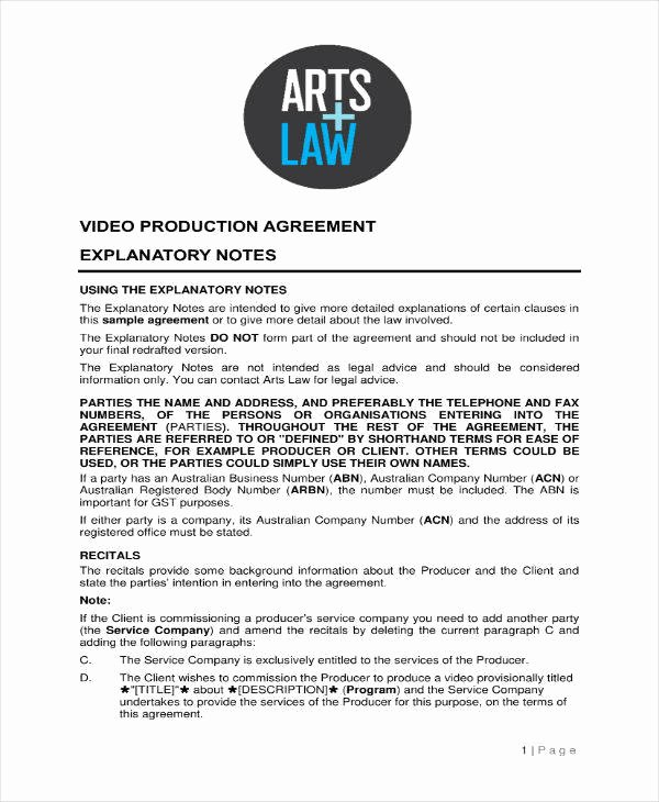 Video Production Contract Template Elegant 7 Production Contract Templates Pdf Word