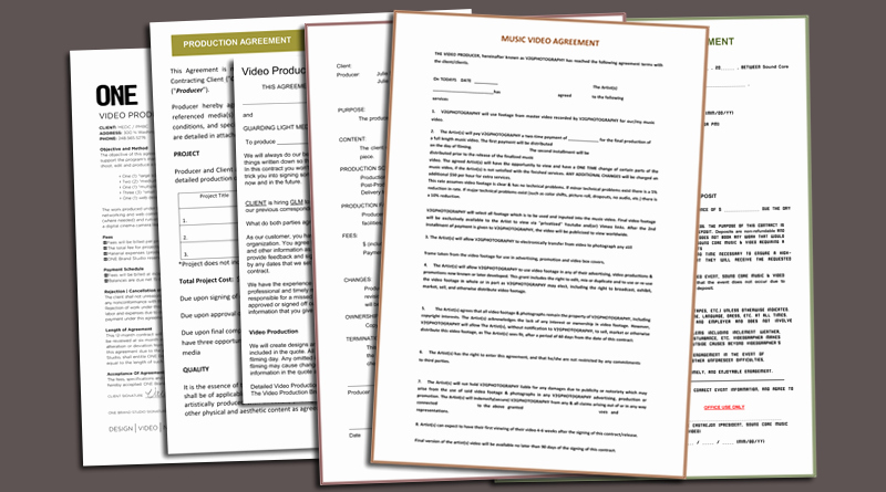 Video Production Contract Template Elegant Video Production Contract 6 Printable Contract Samples