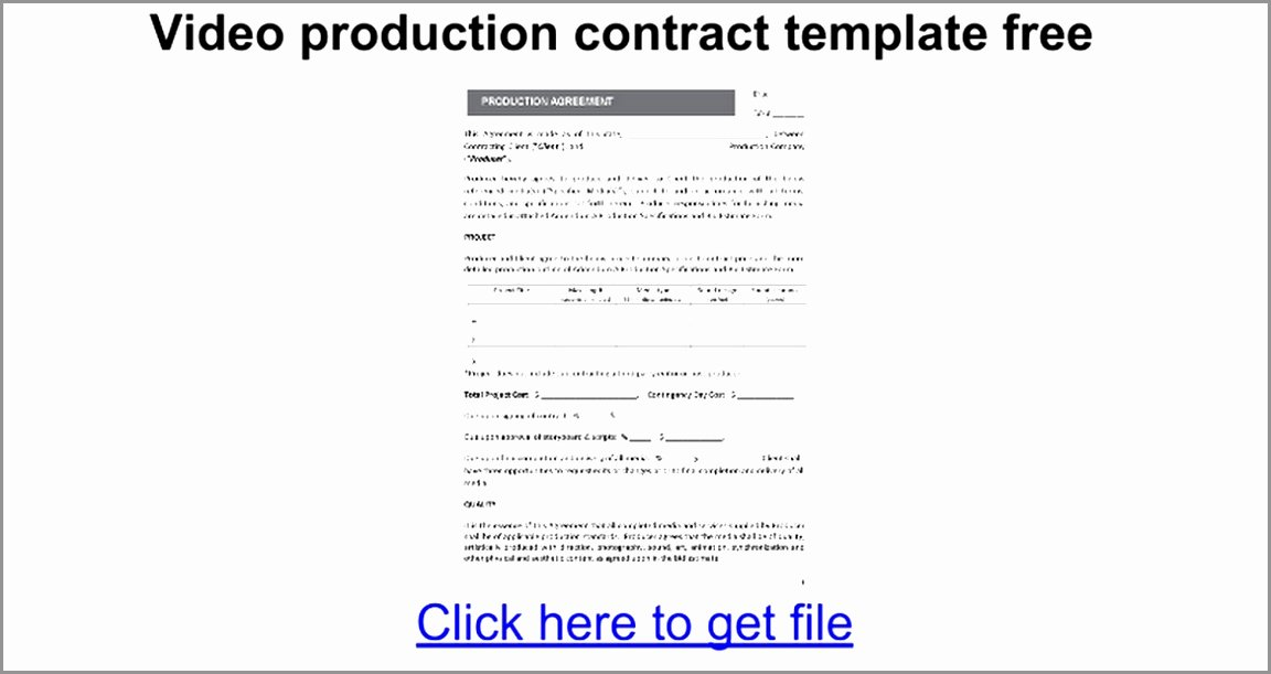 Video Production Contract Template Inspirational 5 Video Production Contract Template Ereoy