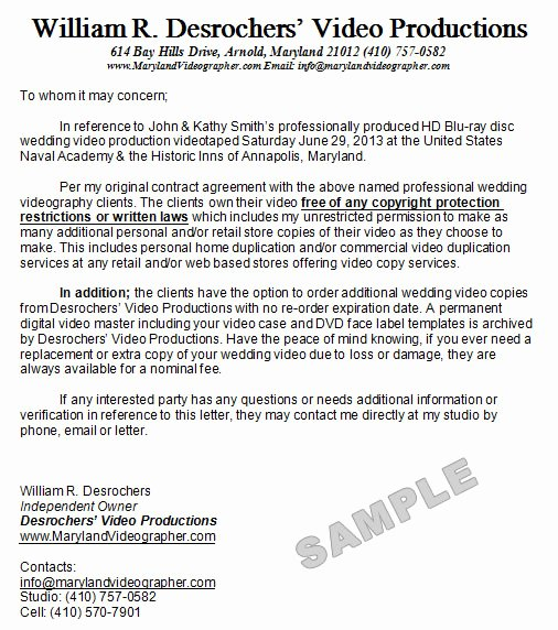 Video Production Contract Template Lovely Wedding Videography Contract Template Free Printable