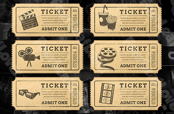 Vintage Movie Ticket Template Best Of 115 Ticket Templates Word Excel Pdf Psd Eps