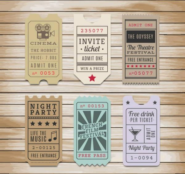 Vintage Movie Ticket Template Best Of 14 Vintage Ticket Templates Psd Ai Word