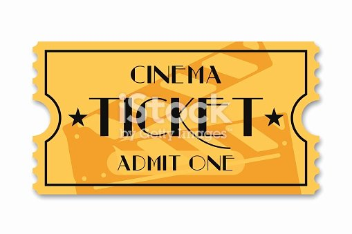 Vintage Movie Ticket Template Best Of Cinema Ticket isolated Background Vintage Admission