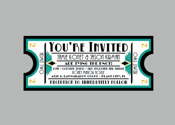 Vintage Movie Ticket Template Best Of Movie themed Wedding Inspiration