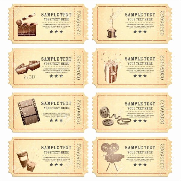 Vintage Movie Ticket Template Elegant 16 Ticket Designs & Examples Psd Ai Vector Eps