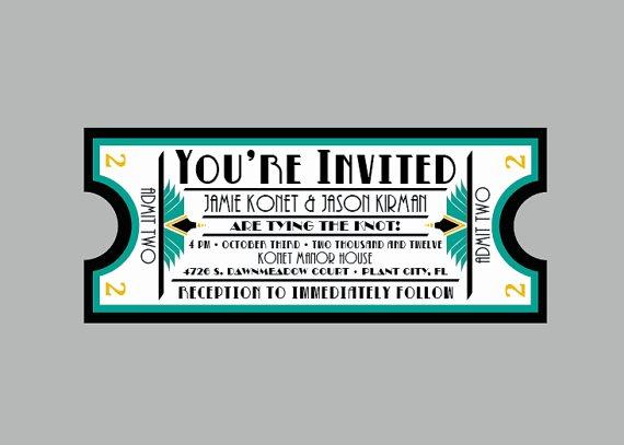 Vintage Movie Ticket Template Elegant Movie themed Wedding Inspiration