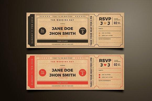 Vintage Movie Ticket Template Elegant Wedding Invitation Movie Ticket Invitation Templates