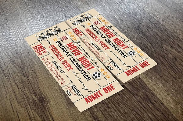 Vintage Movie Ticket Template Inspirational 37 Ticket Templates Download