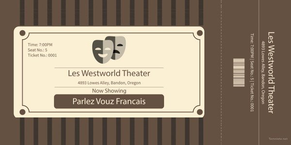 Vintage Movie Ticket Template Lovely Ticket Templates – 99 Free Word Excel Pdf Psd Eps