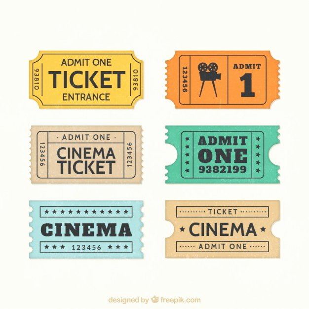 Vintage Movie Ticket Template Lovely Ticket Vectors S and Psd Files