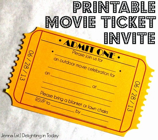 Vintage Movie Ticket Template New Free Free Vintage Ticket Template Download Free Clip Art