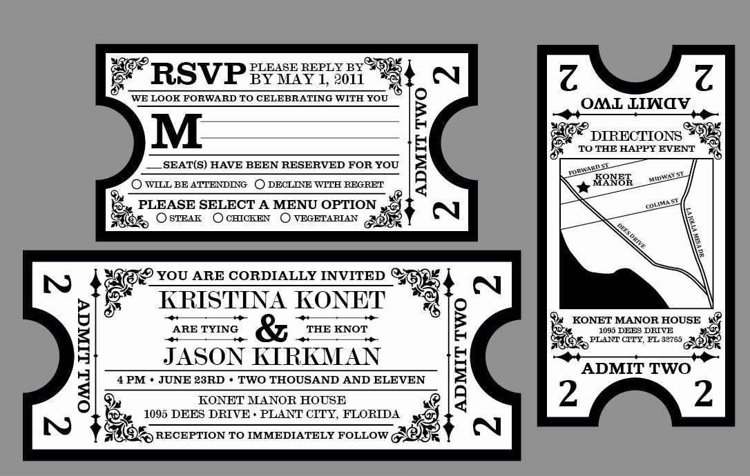 Vintage Movie Ticket Template New Rustic Wedding Invitations Vintage Antique by Jkdesignorlando