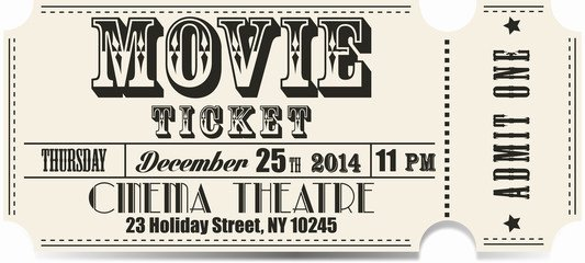 Vintage Movie Ticket Template New Search Photos Category Hobbies and Leisure Entertainment