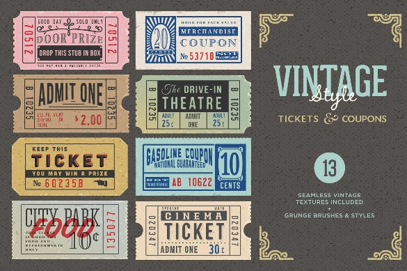 Vintage Movie Ticket Template Unique 43 Printable Coupon Design Templates to Download