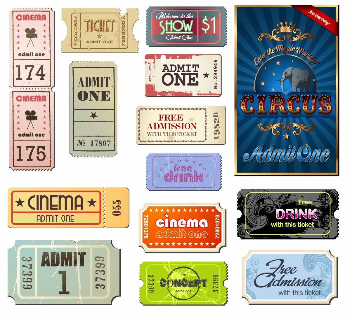 Vintage Movie Ticket Template Unique Vintage Movie Tickets Labels