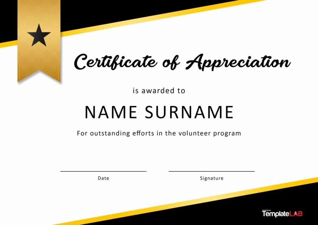 editable 30 free certificate of appreciation templates and letters volunteer appreciation certificate template 2