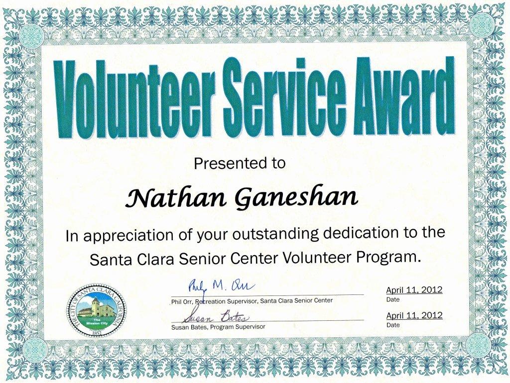 Volunteer Appreciation Certificate Template Awesome Munity Service