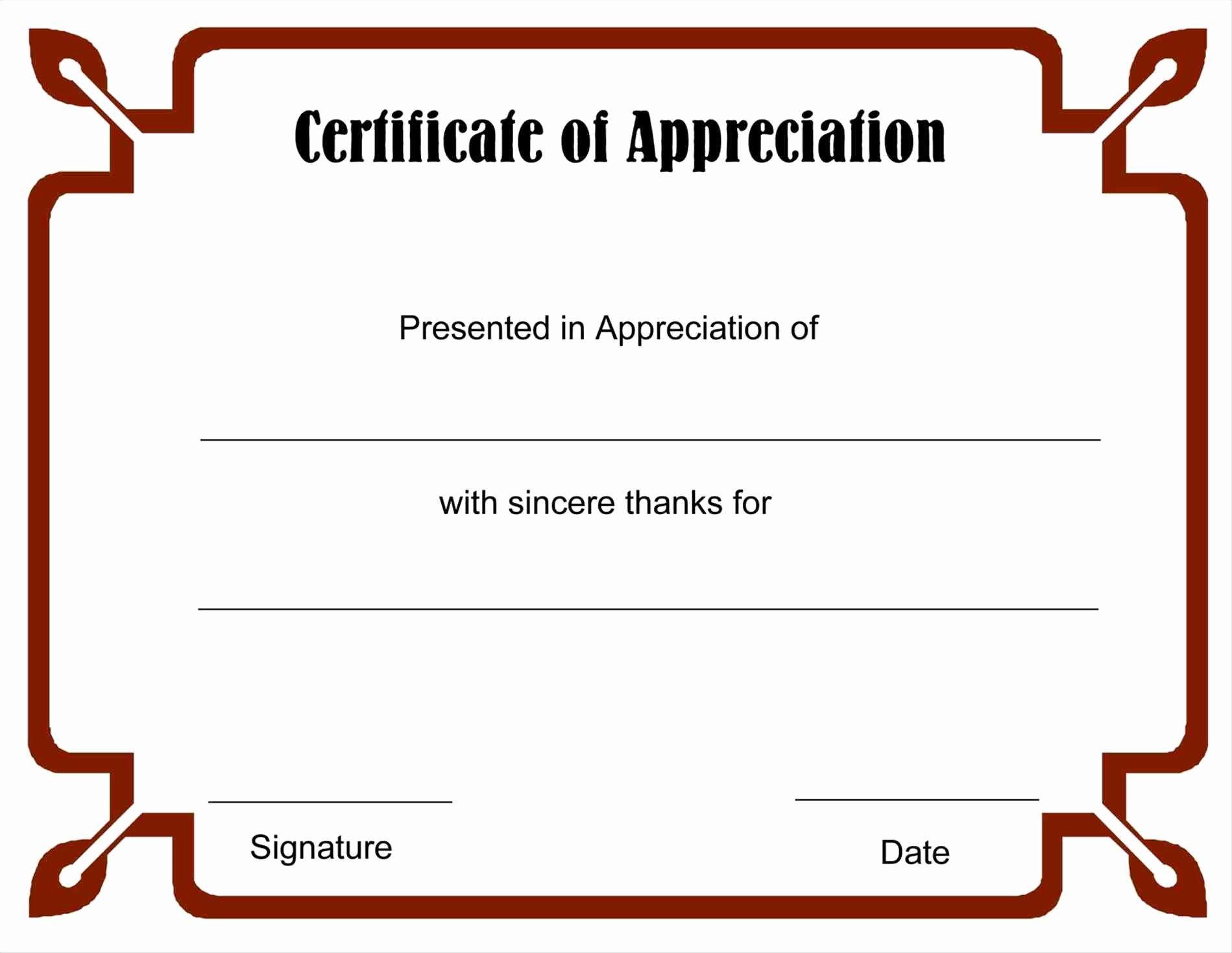 Volunteer Appreciation Certificate Template Best Of Download Free Certificate Appreciation Template
