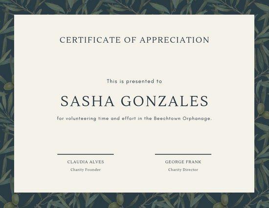 Volunteer Appreciation Certificate Template Inspirational Customize 63 Appreciation Certificate Templates Online