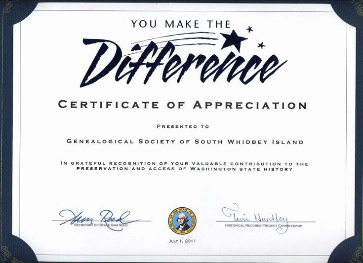 Volunteer Appreciation Certificate Template Unique Thank You Certificates for Volunteers