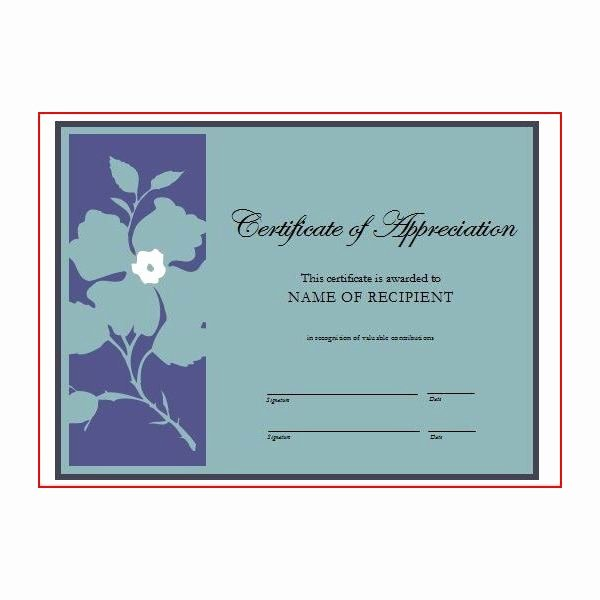 Volunteer Appreciation Certificate Templates Beautiful Free Printable Award Certificates 10 Great Options for A