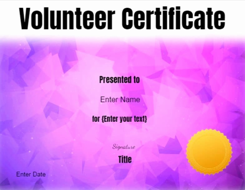 Volunteer Appreciation Certificate Templates Best Of Volunteer Certificate Of Appreciation