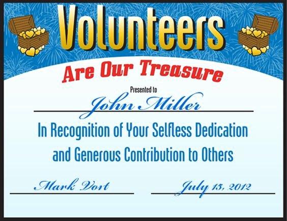 Volunteer Appreciation Certificate Templates Inspirational Free Volunteering Certificate S
