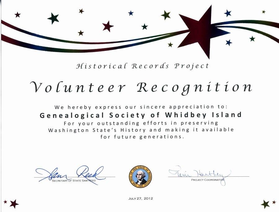 Volunteer Appreciation Certificate Templates Inspirational Gsswi Awards