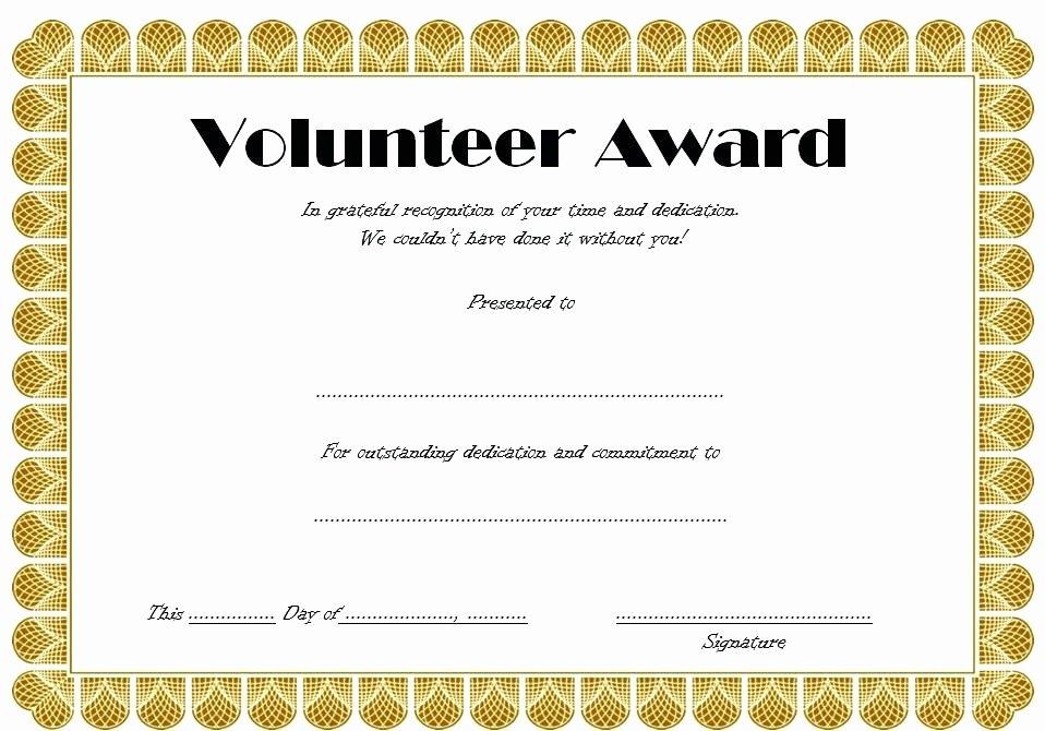 Volunteer Appreciation Certificate Templates Lovely Munity Volunteer Awards St Mewan Parish Council