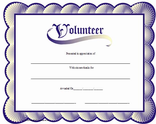 Volunteer Appreciation Certificate Templates Lovely Volunteer Appreciation Certificates Line Signup Blog