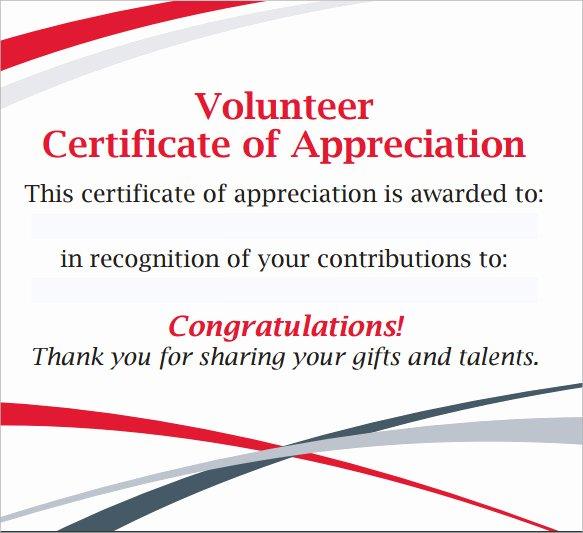 Volunteer Appreciation Certificate Templates Luxury Sample Volunteer Certificate Template 13 Documents In