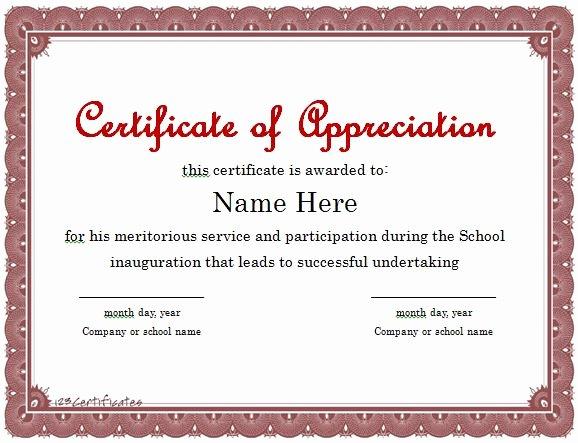 Volunteer Appreciation Certificate Templates Unique Vesting Certificate Template Uk