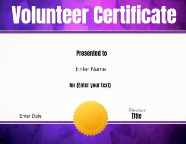 Volunteer Appreciation Certificate Templates Unique Volunteer Certificate Of Appreciation